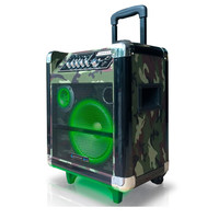 8'' Portable PA System with Rechargeable Battery & Wireless VHF Handheld Microphone-Camouflage