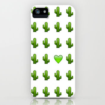 Cacti Emoji Love iPhone & iPod Case by Gretchen M.