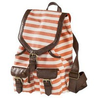 Bueno Stripe Canvas Backpack - Orange/Brown