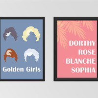 Golden Girls Set Printable Set Wall Art