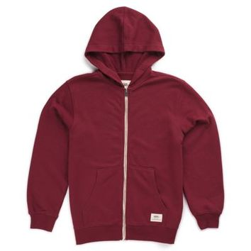 Vans Boys Core Basic Zip Hoodie III (Wine)