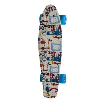 "22"" Complete Plastic Penny Style Street Print Skateboard - graffiti"