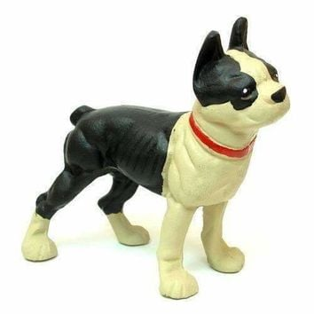 Cast Iron Door Stop Bulldog Boston Terrier
