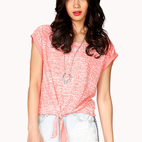 Front-Tie Marled Top