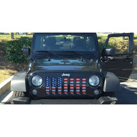 American Flag / Jeep Grill