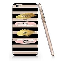 Don't Kill My Vibe Slim Iphone 6 Plus Case, Clear Iphone 6 Plus Hard Cover Case (For Apple Iphone 6 4.7 Inch Screen)-Emerishop
