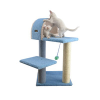 Armarkat 68-Inch Wooden Step Cat Tower Tree Condo Scratcher Kitten House - Ivory