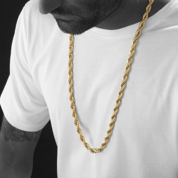 8mm Gold Rope Chain