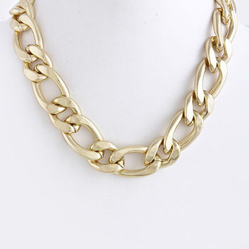 fb ALTERNATE CHAIN LINK NECKLACE
