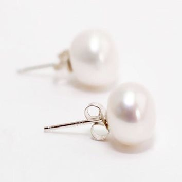 Lux Collection Freshwater Pearl Studs