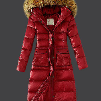 Thick Fur Collar Hooded Long Sleeve Padded Coat