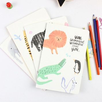 S57 Cute Kawaii Animals A5 Line Notebook Exercise Book Diary Notepad Gift Stationery Kids Gift Rewarding