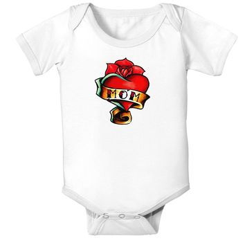 Tattoo Heart Mom Infant Onesuit