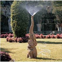 Tiny the Elephant Lawn Sculpture and Garden Sprinkler - NG28198                    - Design Toscano