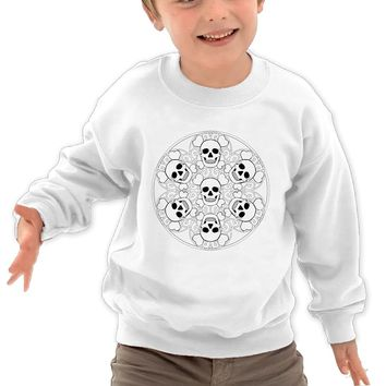Cuihualili Skulls And Heart Funny Particular Children's Round Neck Sweater Sweatshirt
