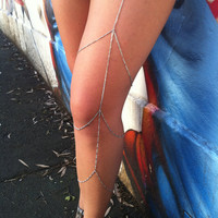 Heartbreaker Silver Leg Chain by stairwaystoheaven on Etsy