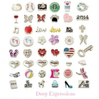 Choose any 5 Floating Charms for Memory Lockets, Floating Charm Lockets