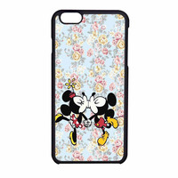 Mickey Kiss Minnie Disney Flowers iPhone 6 Case