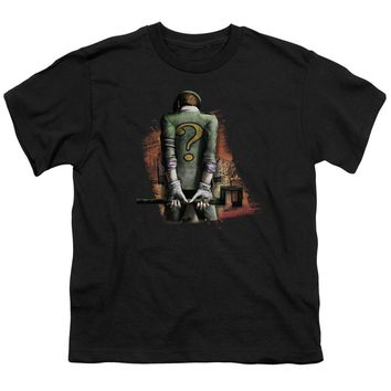 Arkham City - Riddler Convicted Short Sleeve Youth 18/1 Shirt Officially Licensed T-Shirt