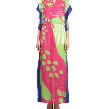 Amen Silk printed Cover up dress