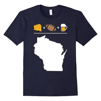 Wisconsin Equals Cheese Beer Football Shirt