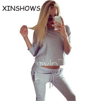 TRACK SUIT Women Sportswear Autumn Winter Printed Letter Tracksuits Long-sleeve Casual Suit 2 Piece Set