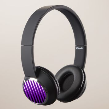 Wave Design Purple Headphones
