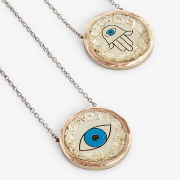 Francisca Botelho Evil Eye and Hamsa Necklace