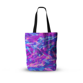 "Ebi Emporium ""Motley Flow 2"" Purple Blue Everything Tote Bag"