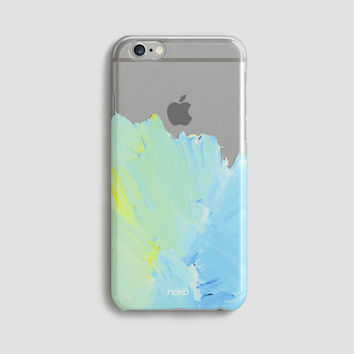NOKO Clear Transparent iPhone 6 Case, iPhone 6s case, iPhone 6 Plus Case, iPhone 6s plus case Watercolor