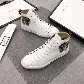 GUCCI Fashion leisure high-top sports shoes-4