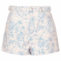 MOTO Pastel Floral Mom Shorts - Light Pink