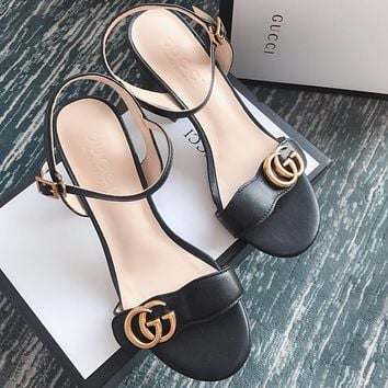 Gucci Women Fashion Casual Heels Shoes Sandals Shoes