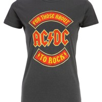 ACDC 'For those about to rock' Womens T-Shirt Top