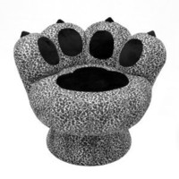 Amazon.com: LumiSource Paw Chair, Snow Leopard: Home & Kitchen