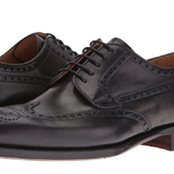 Magnanni Dark Grey Leather Wingtip Men's Oxfords