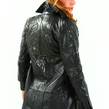 Hand made Italian Leather Selene Underworld Jacket matches Selene Corsets listed H Custom Made for you