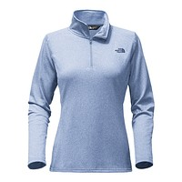 Women's Tech Glacier 1/4 Zip in Chambray Blue Heather by The North Face