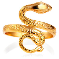 Snake Coil Ring, Stone & Novelty Rings