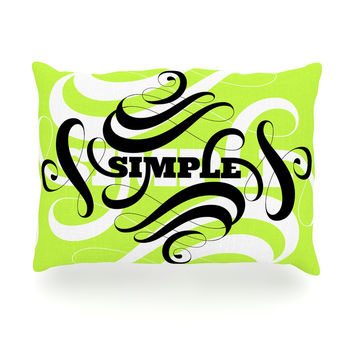 "Roberlan ""Simple"" Lime Green Oblong Pillow"
