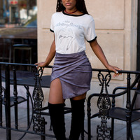 She's Got Game Envelope Skirt - Charcoal