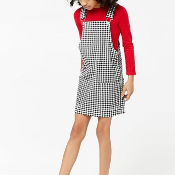 Girls Gingham Overall Dress (Kids)