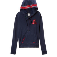 University of Arizona Bling Perfect Half Zip Hoodie - PINK - Victoria's Secret