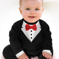 Newborn Boy Baby Formal Suit Tuxedo