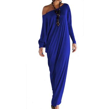Sexy Women Maxi Dresses Fall Long Sleeve Irregular Party Long Dress Off Shoulder Autumn Winter women Loose Wrap Dress
