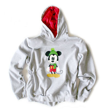 Shop Now! Ugly Sweaters: Disney Mickey Mouse Ugly Christmas Hoodie Sweatshirt Women's Size Large (L) $25 - The Ugly Sweater Shop