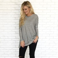 My Kinda Cozy Stripe Tunic Sweater
