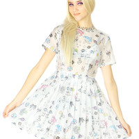 SPACE CARTOON ORGANZA DRESS