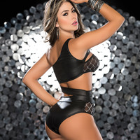 Two Piece High Waisted Dancer Outfit-Stripper Clothing