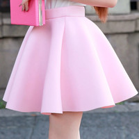 Sweet space cotton trendy skirt